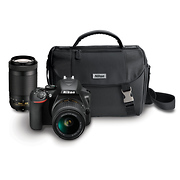 D3500 Digital SLR Camera with 18-55mm and 70-300mm Lenses (Black)