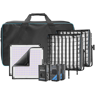 Flex Cine DMX RGBW LED Mat Two-Light Fixture Kit (1 x 1 ft.) Image 0