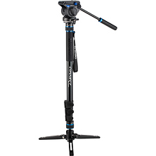 #3 MCT38AF Monopod with Flip Locks, 3-Leg Base, and S4 Video Head Image 0