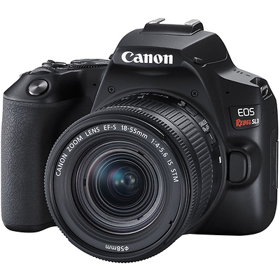 EOS Rebel SL3 Digital SLR with EF-S 18-55mm f/4-5.6 IS STM Lens (Black) Image 0