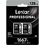 128GB Professional 1667x UHS-II SDXC Memory Card (2 Pack)