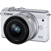 EOS M200 Mirrorless Digital Camera with 15-45mm Lens (White)