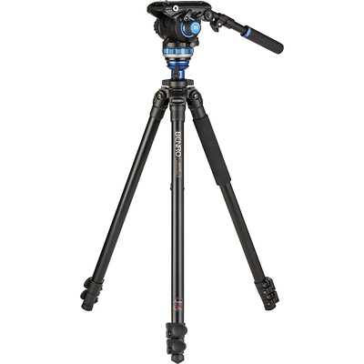 A2573F Aluminum Single Tube Tripod with S6Pro Fluid Video Head Image 0