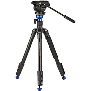 A2883F Reverse-Folding Aluminum Travel Tripod with S4Pro Fluid Video Head
