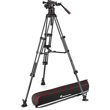 612 Nitrotech Fluid Video Head and Carbon Fiber Twin Leg Tripod with Middle Spreader Image 0