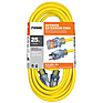 25 ft. 12/3 Jobsite Outdoor Extension Cord (Yellow)