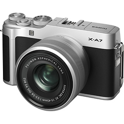 Fujifilm X-A7 Mirrorless Digital Camera with 15-45mm Lens (Silver) Image