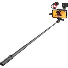 Vlogging Kit with Fill Light,Extension Pole, Mic, Phone Holder and Tripod Image 0