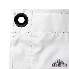 8 x 8 ft. Bounce Fabric (White/Black) Image 0