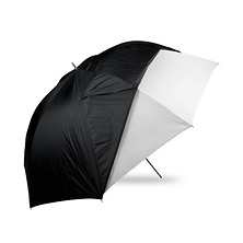 60in. Optical White Satin with Removable Black Cover Umbrella Image 0