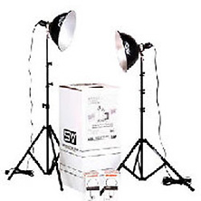 KT500U Two Light 500 watt Thrifty Photoflood Kit Image 0
