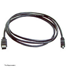6ft. Firewire IEEE 1394 4Pin to 6Pin Black Cable Image 0