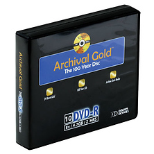 Archival Gold DVD-R 10-Pack Wallet Image 0