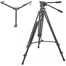 Provista 7518 Tripod with FM18 Head & W3 Dolly Image 0