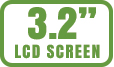 LCD screens range from 1.5-inches to 3.7-inches diagonally.
