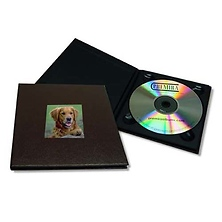 CD Holder with 2x2 Front Cover Photo Window, Brown Image 0