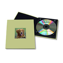 CD Holder with 2x2 Front Cover Window - Green Image 0