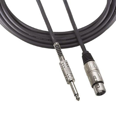 1/4 In. T/S Male to 3-pin XLR Female Microphone 25 ft. Cable Image 0