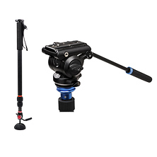 Air 25 Monopod with Benro S4Pro Fluid Video Head Kit Image 0