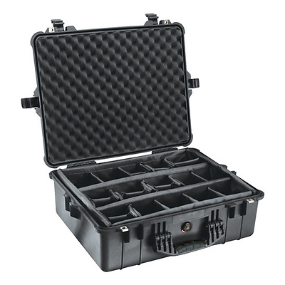 1600B Watertight King Hard Case with Padded Dividers - Black Image 0
