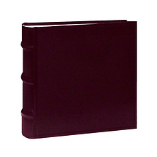 Sewn Bonded Leather Book Bound Bi-Directional Photo Album (Assorted Color) Image 0