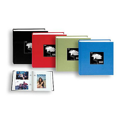 Fabric Frame Bi-Directional Memo 2-Up Photo Album (Assorted Colors) Image 0
