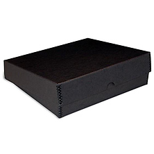 9x12x3in Black Drop-Front Metal Edge Box Image 0
