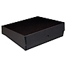 9x12x3in Black Drop-Front Metal Edge Box