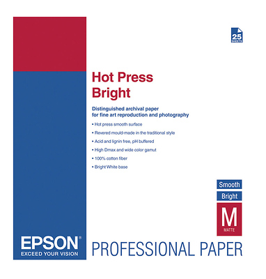 Hot Press Bright Smooth Matte Paper, 17 x 22in - 25 Sheets Image 0