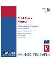 Cold Press Natural Textured Matte Paper, 8.5 x 11in (25 Sheets) Image 0