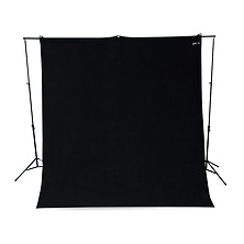 9 x 10 ft. Wrinkle-Resistant Cotton Backdrop (Rich Black) Image 0