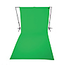 9 x 20 ft Wrinkle-Resistant Cotton Backdrop (Chroma Key Green)