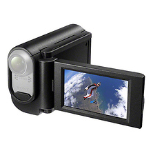 Grip-Style LCD Unit for Action Camcorder Image 0