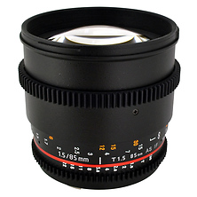 85mm t/1.5 Aspherical Lens for Sony Alpha with De-Clicked Aperture and Follow Focus Fixed Lens Image 0
