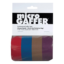 Microgaffer Tape 1 in x 8yd (4Pk) - Red/Blue/Brown/Purple Image 0