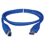 3 Foot USB 3.0 Cable - A Male to B Male (Blue)