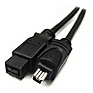 IEEE-1394 FireWire 9 pin Male to 4 pin Male (6 ft.)