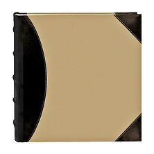 High Capacity 4x6 Pocket Photo Album - 500 Pictures (Beige with Leatherette Trim) Image 0