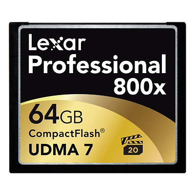 64GB CompactFlash Memory Card Professional 800x UDMA Image 0