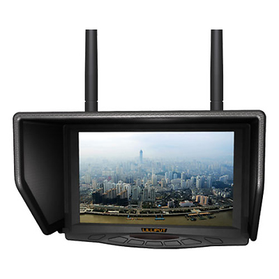 7 In. FPV Monitor With Dual Receiver Image 0