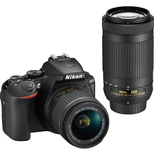 D5600 Digital SLR Camera with 18-55mm & 70-300mm Lenses (Black) Image 0