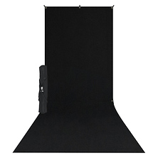 X-Drop Wrinkle-Resistant Backdrop Kit Rich Black Sweep (5 x 12 ft.) Image 0