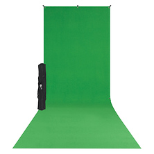 X-Drop Wrinkle-Resistant Backdrop Kit Chroma-Key Green Sweep (5 x 12 ft.) Image 0
