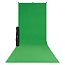 X-Drop Wrinkle-Resistant Backdrop Kit Chroma-Key Green Sweep (5 x 12 ft.)