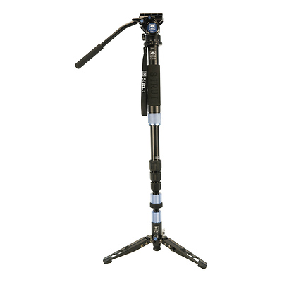 Aluminum 4 Section Monopod with Feet and VA5 Head - Open Box Image 0