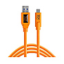 TetherPro USB 3.0 to USB-C (15 ft. Orange)