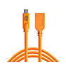 Tetherpro USB-C to USB Female Adapter Extender (15 ft. Orange)