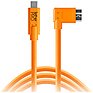 TetherPro USB Type-C Male to Micro-USB 3.0 Type B Male Cable (15 ft., Orange, Right-Angle)