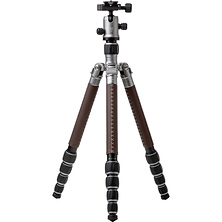 RoadTrip Classic Leather Edition Tripod (Aluminum, Titanium with Brown Leather) Image 0
