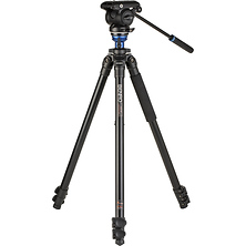 A2573F Aluminum Single Tube Tripod with S4Pro Fluid Video Head Image 0